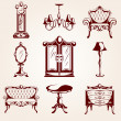 Set of furniture icons — Image vectorielle