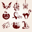 Halloween set — Stock Vector #35415189