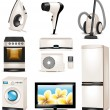 Set of household appliances icons — Imagens vectoriais em stock