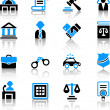 Law icons — Stock Vector #35415315