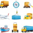 Logistics icons — Stock Vector