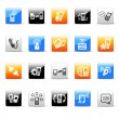 Phone icons — Vector de stock #35415539