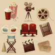 Cinema icons — Stock Vector