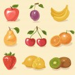 Stockvector : Fruit set