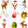 Christmas icons — Stock Vector #35415685