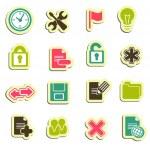 Os ícones do Web — Vetorial Stock
