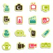 Media icons — Stock Vector #35415885