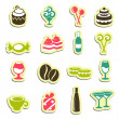 Sweet food icons — Stock Vector