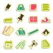 Office accessories icons — Stockvectorbeeld