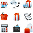 shopping icons — Stock Vector #35416027