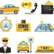 Taxi service set — Stock Vector #35416151