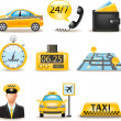 Stock Vector: Taxi service set