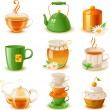 Tea set — Stock Vector