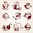Coffee and tea elements set — Stock Vector