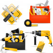 Toolbox and DIY tools — Vector de stock #35416189