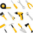Stock Vector: Tools set