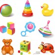 Toy icons — Stock Vector #35416213