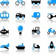 Transport icons — Stok Vektör