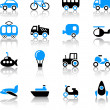 Transport icons — Vecteur #35416241