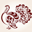 Decorative turkey — Stock Vector #35416277