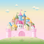 Cartoon fairy tale castle — Stock Vector
