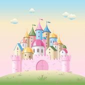 Cartoon fairy tale castle — Stock Vector