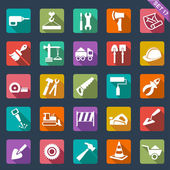 Building and tools icons — Stock Vector
