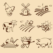 Farm emblems — Stock Vector