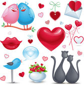 St. Valentine's Day set — Stock Vector