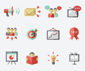 Marketing icon set — Stock Vector