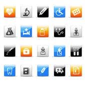 Medicine icons — Stock Vector