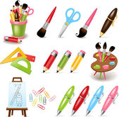 Drawing and painting tools — Stock Vector