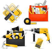 Toolbox and DIY tools — Stock Vector