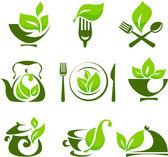 Organic food design elements — Stock Vector
