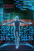 Cyber framtida man — Stockfoto