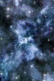Nebula and starfield background — Stock Photo