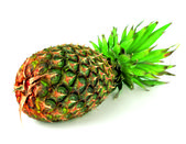 Pineapple (Latin Ananas) - genus of herbaceous plants of tropical bromeliads (Bromeliaceae). — Stock Photo