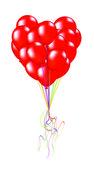 Balões em forma de coração — Vetor de Stock