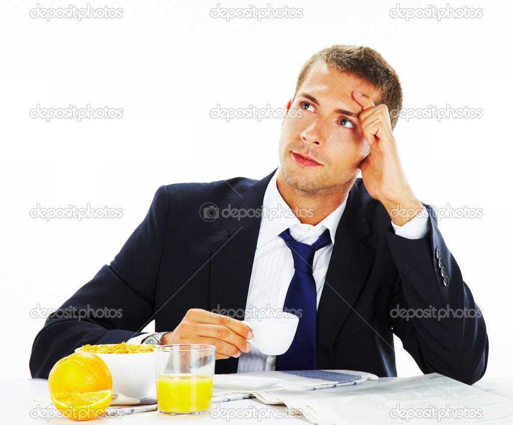 Businessman over isolated background — Stock Photo #12816894