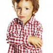 Little boy with arms crossed — Stock Photo #13445335