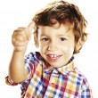 Stock Photo: Little boy doing ok sign