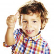 Little boy doing ok sign - Stock Photo