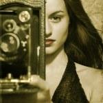 Glamour woman. retro style — Stock Photo