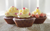 Delicious cupcakes — Stock Photo