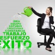 Business woman -success concept with spanish words — Foto Stock