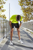 Man resting after running — Stock Photo