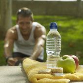 Nutrition and hydration after sport — Stock Photo