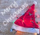 Feliz navidad santa sombrero — Foto de Stock