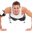 Young sport man doing exercices — Stock Photo #21184611