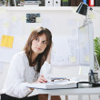 Young woman creative designer working in office. — Stock Photo